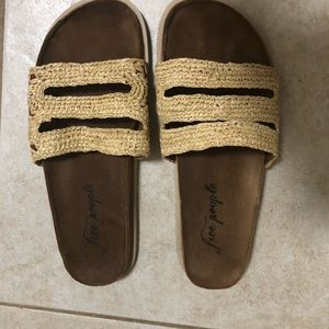 Free People Sandals Crete Footbed 39